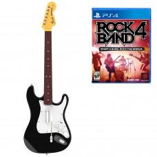 Комплект для Rock Band 4 (игра + гитара) Wireless Fender Stratocaster (PS4)