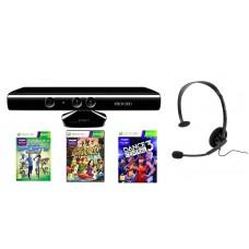 Kinect Sensor Xbox 360 (Наушники Online Headset+ 3 лицензионных диска в подарок)