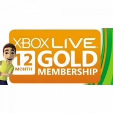 Карта оплаты Xbox Live Gold 12 месяцев