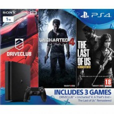 Sony Playstation 4 Slim 1Tb Black + UNCHARTED 4: A THIEF'S END + DRIVE CLUB + Одни из нас (PS4)