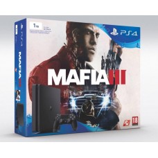 Sony Playstation 4 Slim1Tb Black Игровая консоль + Mafia III